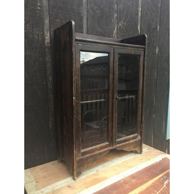 Distressed Wooden Bookcase For Sale - Image 4 of 11