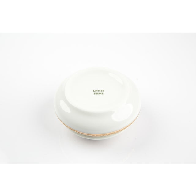 Antique White Vintage Limoges France Little Jewelry or Pill Box For Sale - Image 8 of 9