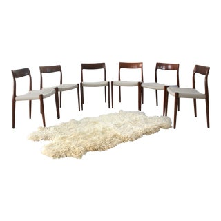 Danish Rosewood Dining Chairs by Jl Moller Model 77 - Set of 6 For Sale