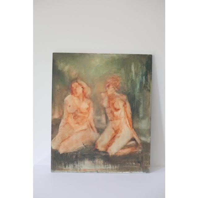 """""""Sisterhood"""" Impressionist Nude Painting - Image 2 of 5"""
