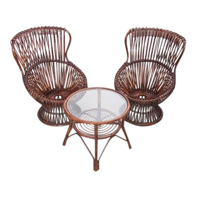 Set of Two Margherita Chairs by Franco Albini for V. Bonacina, Italy, 1951 For Sale