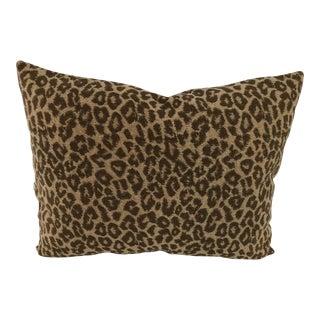 """Stroheim Brown & Tan Leopard Indoor-Outdoor Pillow 17"""" X 13.5"""" For Sale"""