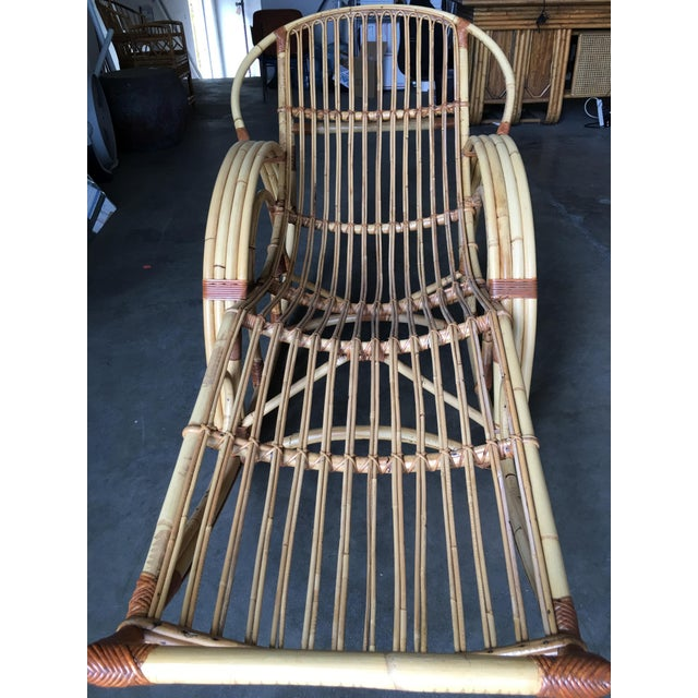 """Restored """"Day Dreaming"""" Rattan Rocking Lounge Chair For Sale In Los Angeles - Image 6 of 9"""