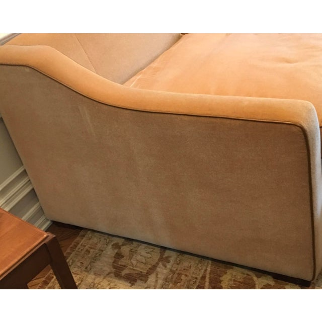 Luxury Mohair & Leather Trim Sofa For Sale In New York - Image 6 of 9