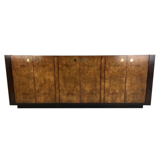 Extraordinary Mahogany and Elmwood Burl Sideboard Cabinet For Sale In San Francisco - Image 6 of 6
