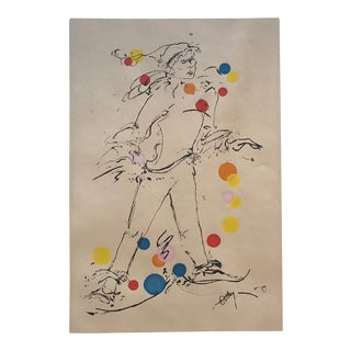 """1969 Mid-Century Modern """"Jester"""" Serigraph by Ottley Schonberger For Sale"""
