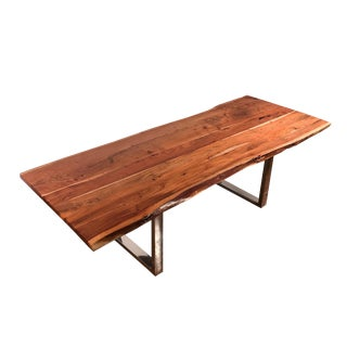 "98"" Live Edge Acacia Dining/Conference Table For Sale"