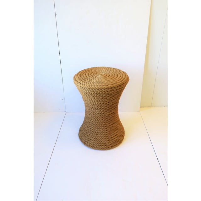 Nautical Rope Round Side or End Table For Sale - Image 10 of 10
