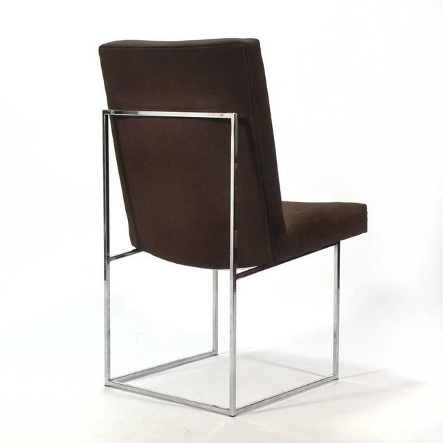 Metal Milo Baughman Set of Six Dining Chairs by Thayer Coggin For Sale - Image 7 of 10