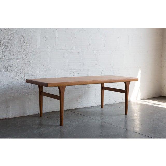 Danish Modern Johannes Andersen Style Teak Coffee Table For Sale - Image 3 of 5