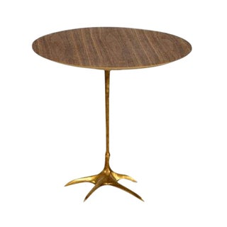 Danish Modern Walnut Flamingo Side Table For Sale