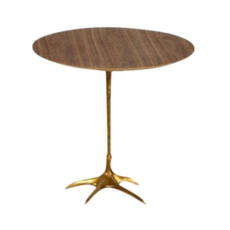 Danish Modern Walnut Flamingo Side Table For Sale
