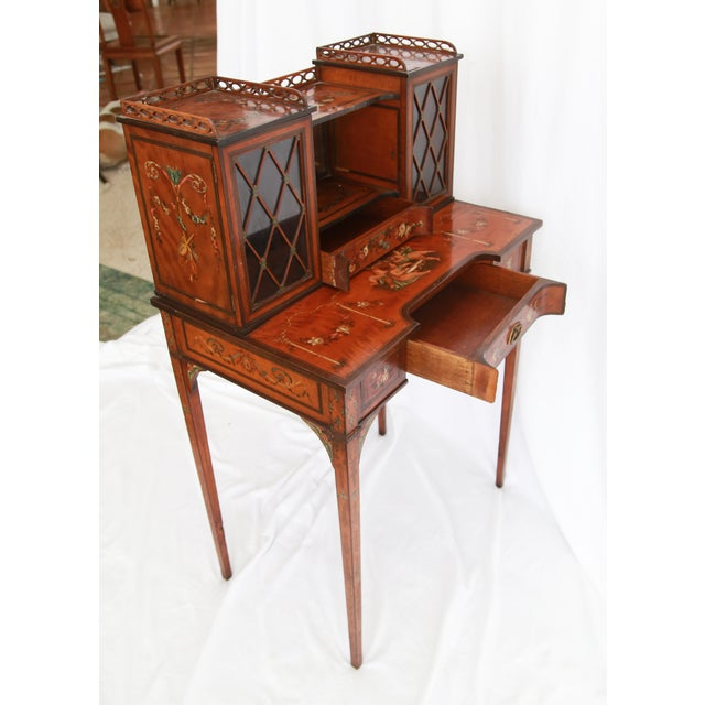 19th Century Federal Hand-Painted Secretary Desk For Sale - Image 10 of 12
