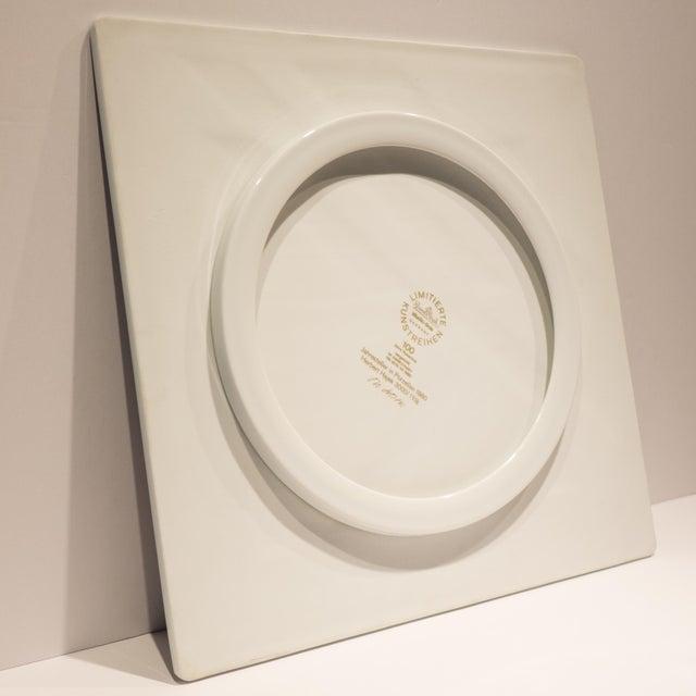 Ceramic Rosenthal Jahresteller Plaque by Otto Herbert Hajek For Sale - Image 7 of 8