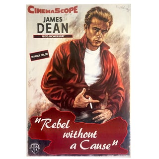 """James Dean Rare Vintage 1980's Collector's Movie Poster """" Rebel Without a Cause """" 1955"""