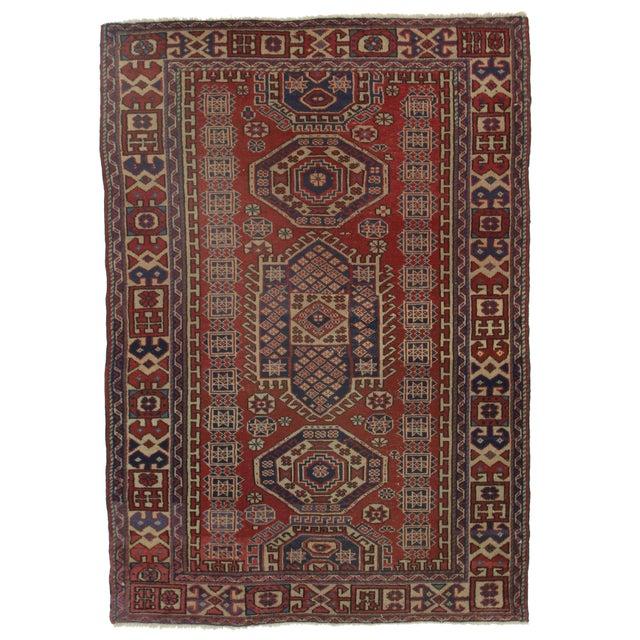 RugsinDallas Persian Bidjar Hand Knotted Wool Rug - 4′4″ × 6′5″ For Sale