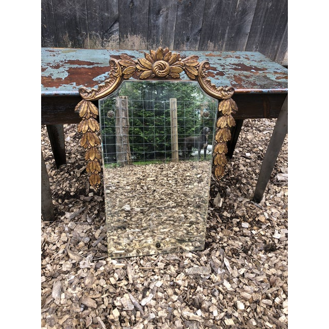 Antique Wall Mirror With Giltwood Garland For Sale - Image 12 of 12