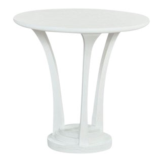 Woodbridge Alabaster Brushed Bellini Lamp Table For Sale