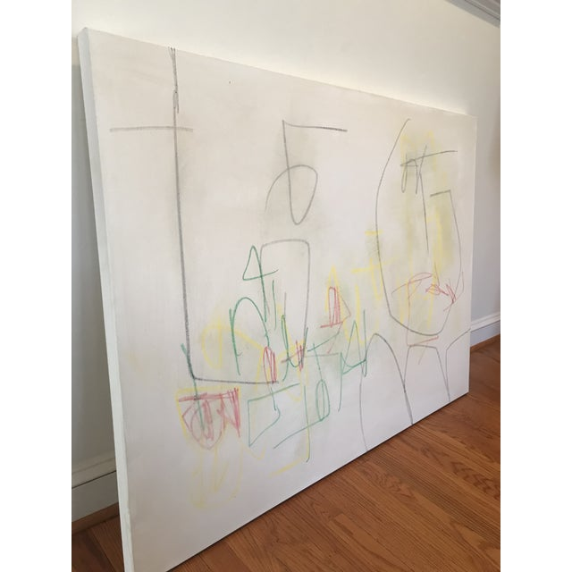 """Sarah Trundle Sarah Trundle, """"Primary"""", Contemporary Minimalist Painting For Sale - Image 4 of 7"""