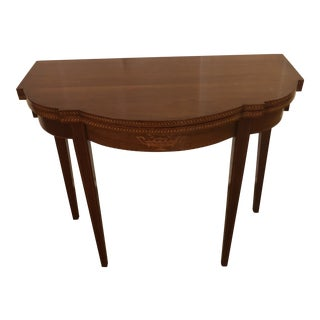 1900s Federal Inlaid Mahogany Game Table For Sale