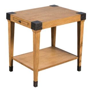 Sarreid Quatrain Side Table, Heather Grey For Sale