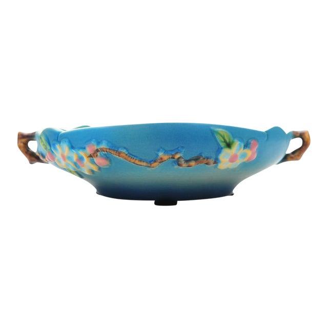 Antique Roseville Pottery Blue Bowl For Sale