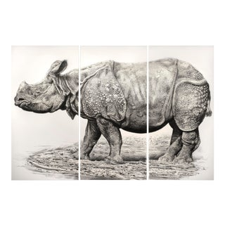 Indian Rhino Print