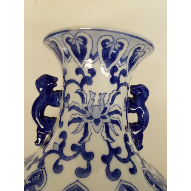 Chinese Chinese Blue and White Vase For Sale - Image 3 of 5