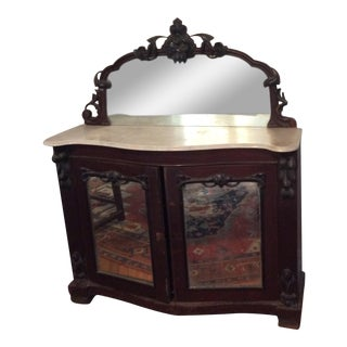 Victorian Marble Top Server
