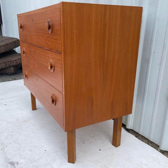 Vintage Modern Teak Commode or Dresser For Sale - Image 4 of 13