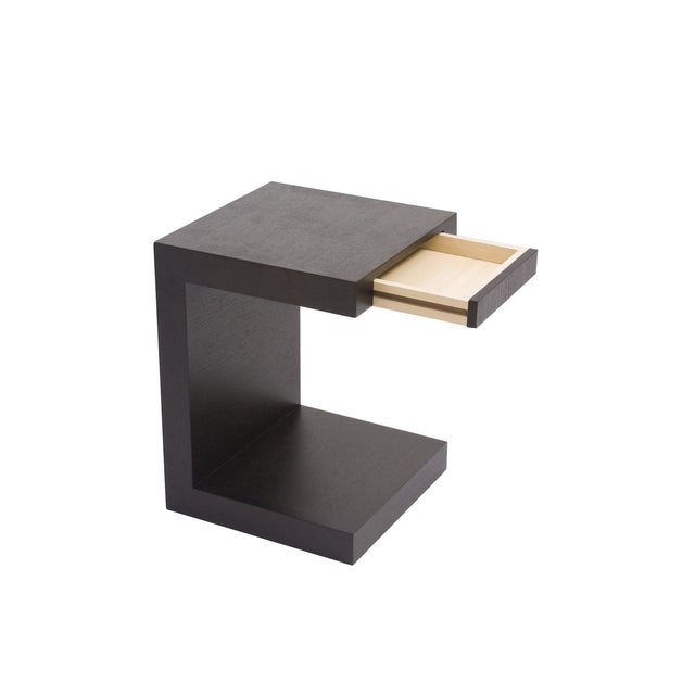Dark Oak Modern Slide-In Side Table - Image 2 of 2