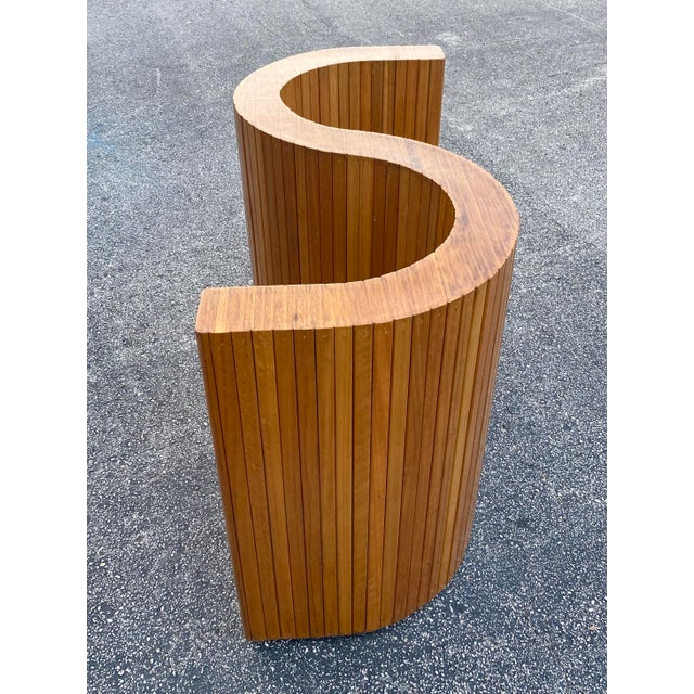 Custom Mid-Century Curved Table Base For Sale In Miami - Image 6 of 9