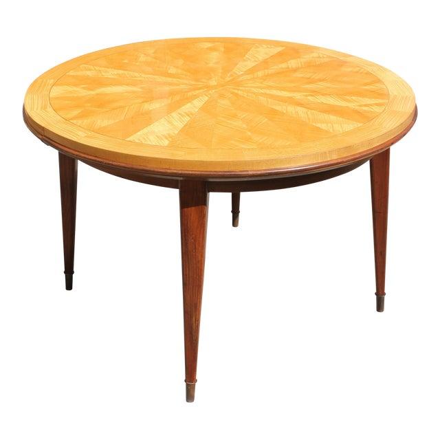 Jules Leleu French Art Deco Sunburst Round Dining Table - Image 1 of 11 - Jules Leleu French Art Deco Sunburst Round Dining Table Chairish