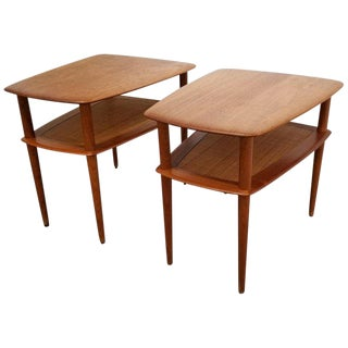 Peter Hvidt Teak End Tables, Pair For Sale