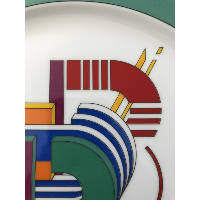 Mid-Century Modern Vintage Rosenthal Germany Signed Marcello Morandini Alphabet Plate For Sale - Image 3 of 11