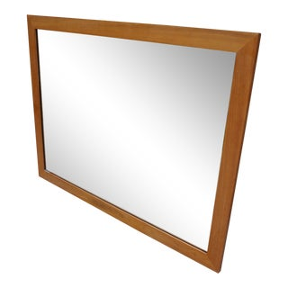 Mid-Century Modern Baker Bleached Mahogany Mirror For Sale