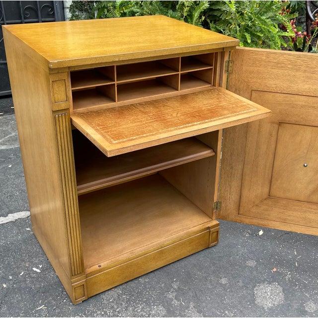 Mid-Century Modern Rare Grosfeld House Hollywood Regency Mid Century Modern Empire Low Secretary Desk Cabinet For Sale - Image 3 of 6