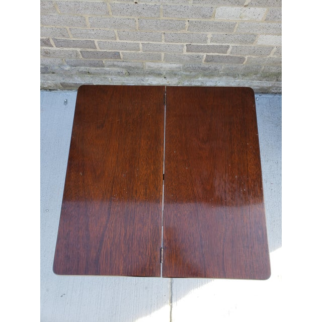 Antique French Mahagony Petite Games Table For Sale - Image 10 of 13