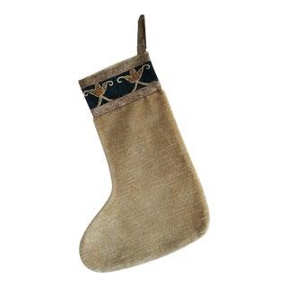 Custom Velvet Christmas Stocking For Sale
