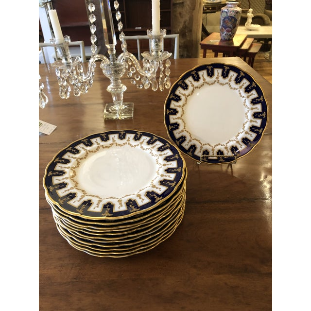 Vintage English Porcelain Dinner Plates -Set of 12 For Sale - Image 9 of 9