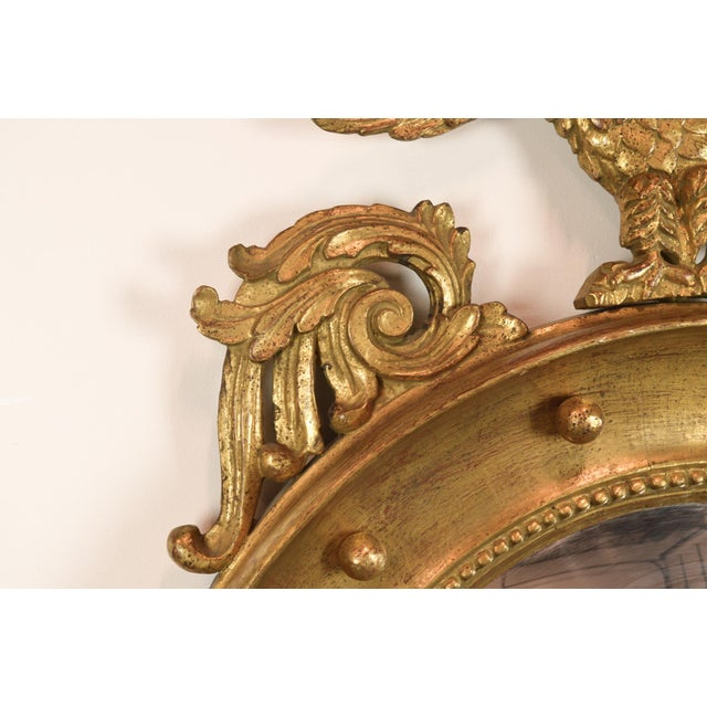 Federal-Style Gilt Convex Mirror - Image 5 of 8