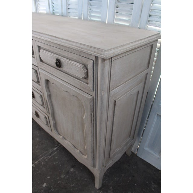 Mid 20th Century 20th Century Shabby Chic French Style Painted Sideboard For Sale - Image 5 of 10