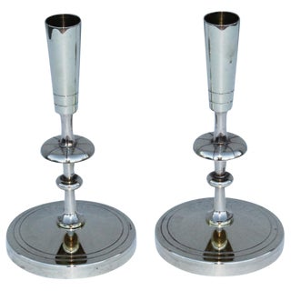 Tommi Parzinger Brass Candleholders For Sale