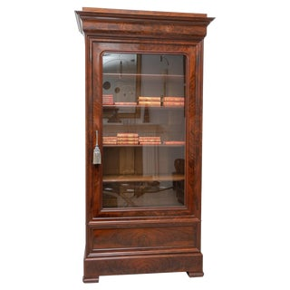 Antique Early 19th C. English Charles X Book Case For Sale