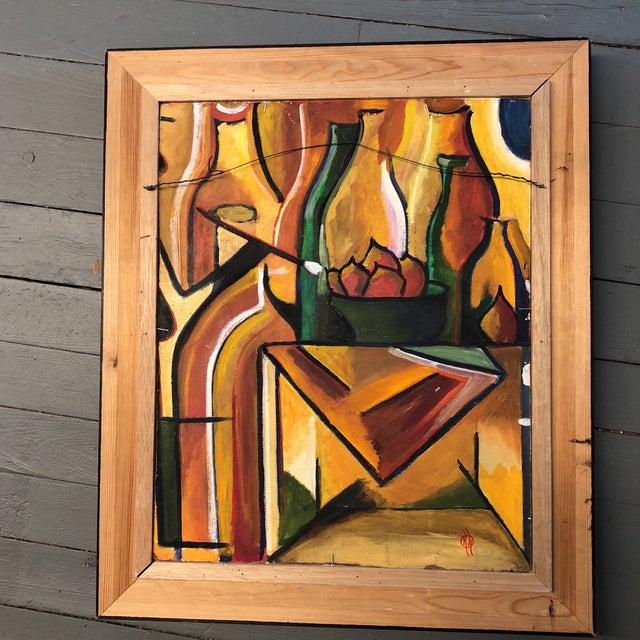 Vintage Original Mid Century Pop Still Life Double Sided For Sale In Philadelphia - Image 6 of 7