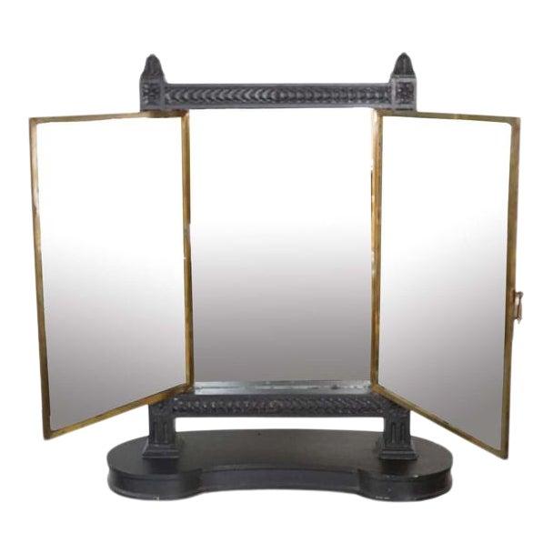 Antique Triptych Mirror For Sale