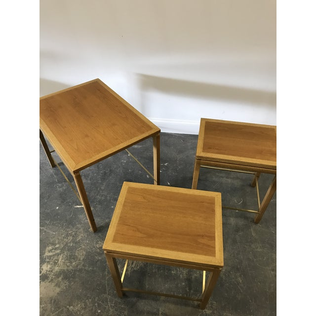 1950s Edward Wormley for Dunbar Nesting Tables-Set Of 3 For Sale In Philadelphia - Image 6 of 9