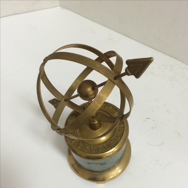Vintage Brass and Marble Armillary - Image 3 of 10