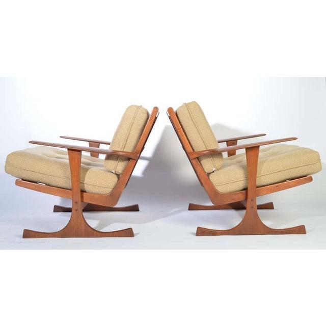 Ib Kofod-Larsen for Selig Denmark Lounge Chairs in Teak For Sale - Image 10 of 11