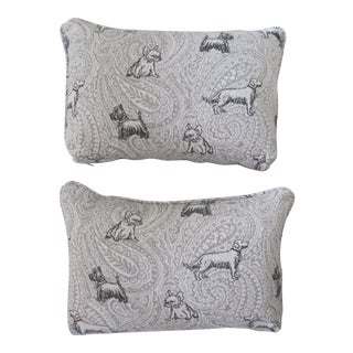 Dog Throw Pillows - a Pair For Sale